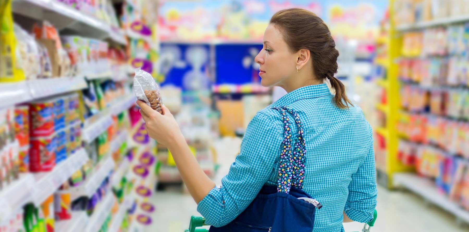 shopper buying nuts